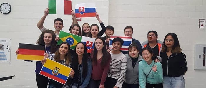 international students in exchange program