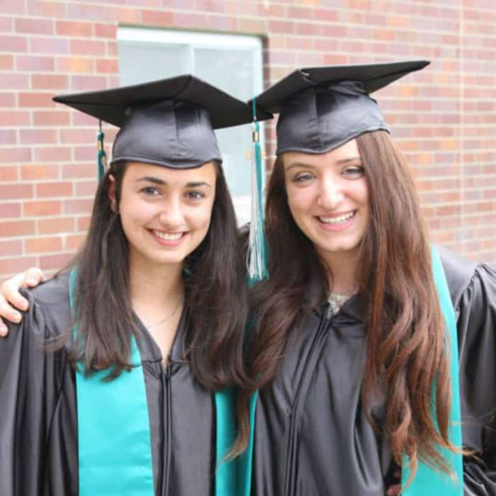 Two Exchange students at graduation
