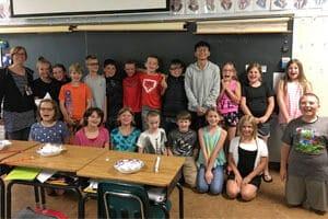 exchange students in classroom