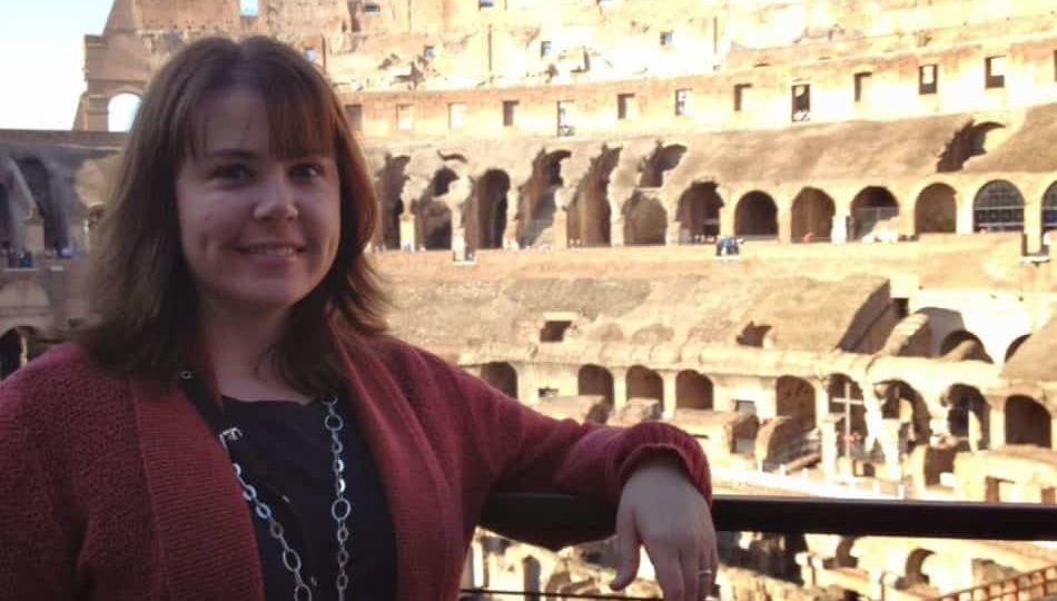 Jennifer at the Roman Colosseum in Italy