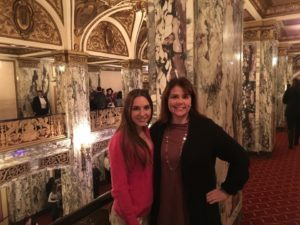 Host mom with exchange student at the Opera