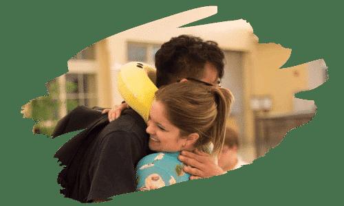 Host Family Exchange Student Hug